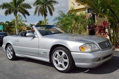 Mercedes-Benz : SL-Class Silver Arrow 2002 mercedes sl 500 silver arrow florida convertible 51 k miles only 1450 made