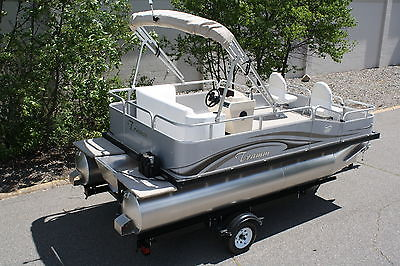 New scratch and dent sale. 16 ft pontoon boat below cost