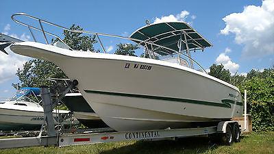 27 PRO LINE SPORT CC, 2000  boat , W/New Twin Optimax 200 W/ Aluminum Trailer