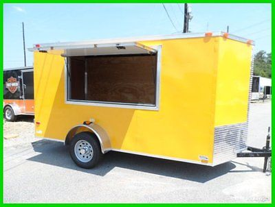 2015 Cynergy v nose 6x12 enclosed cargo concession trailer 3x6 window New