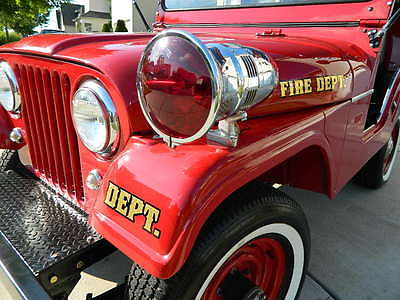 Jeep : CJ CJ5 Fire Jeep 1958 willys jeep cj 5 fire truck 1 of 6 owned by douglas aircraft company 4 x 4