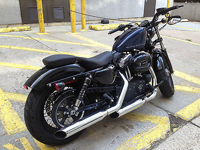 Harley-Davidson : Sportster 48 fort eight blue with black 2013 1200 cc like new