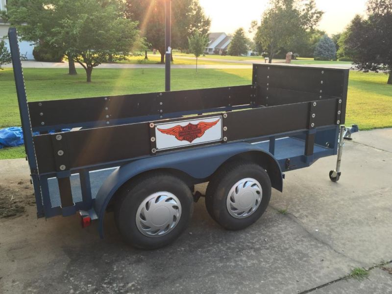 HEAVY DUTY, DUAL AXLE, CUSTOM BUILT TRAILER