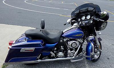 Harley-Davidson : Touring Harley Davidson Street Glide 2009 Black Ice Blue Ice, Garage Kept