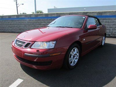 Saab : 9-3 2dr Convertible 2 dr convertible low miles manual gasoline 2.0 l 4 cyl chili red metallic