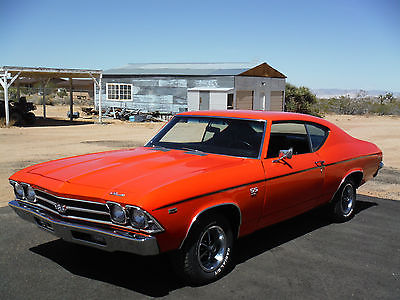 Chevrolet : Chevelle SS 1969 chevelle ss 396 350 hp l 34 s match with build sheet 4 speed bucket seats