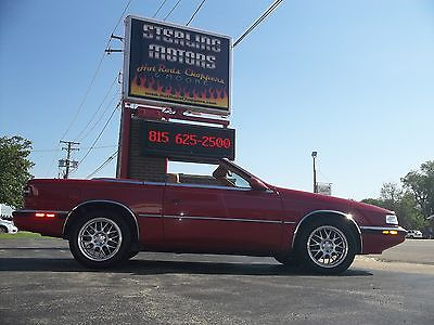 Chrysler : Other Turbo Convertible 89 chrysler tc by maserati turbo convertible 75021 miles custom rims stereo