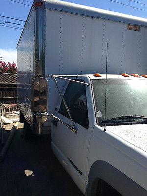 Chevrolet : C/K Pickup 3500 3500 HD 1996 chev 3500 hd diesel box truck one owner one driver 72 k miles