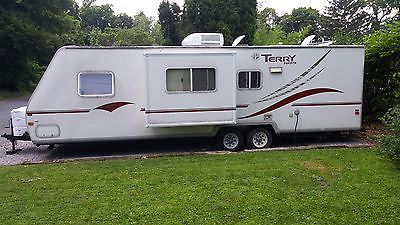 2003 Terry Dakota ultralight travel trailer one owner white fiberglass siding