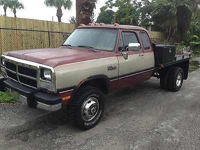 Dodge : Ram 3500 club cab 1993 dodge ram w 350 dually 4 x 4 le cummins diesel rust free