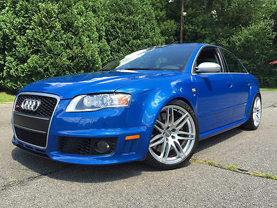 Audi : RS4 Base Sedan 4-Door 2007 audi rs 4 sprint blue sun roof delete extremely rare option package 1 of 1