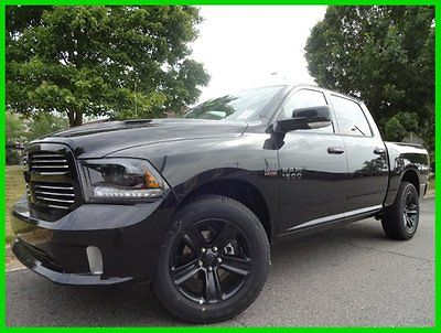 Ram : 1500 Sport 4X4 BLACK SPORT GROUP $10000 OFF! WE FINANCE 5.7 l leather navigation sunroof convenience group 3.92 axle anti spin