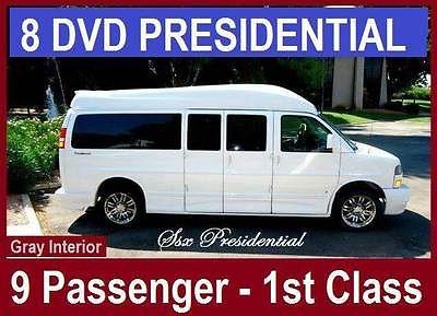 GMC : Savana MAJESTIC SSX - PRESIDENTIAL First Class Presidential, 8DVD,GPS,RVC,CHROME, 9 Passenger Custom Conversion Van