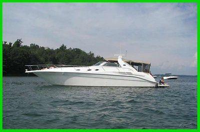1997 Sea Ray Sundancer 51' Power Boat Twin CAT 3126/450HP Full Camper Top