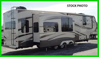 2014 Grand Design Solitude 369RL 39' Fifth Wheel 3 Slides TV Fireplace King Bed