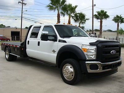 Ford : Other Pickups 4X4 2011 ford f 550 crew cab 6.7 l diesel fully serviced 11 flat bed 1 owner