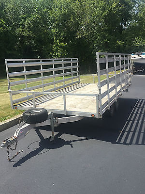 16' Aluminum Trailer - Folding Sides, Removable Back - Great Condition