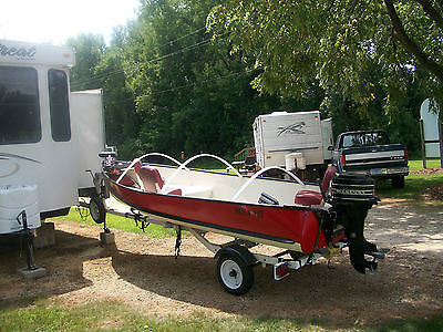 16ft Naden Aluminum Fishing Boat with 20hp Mercury outboard