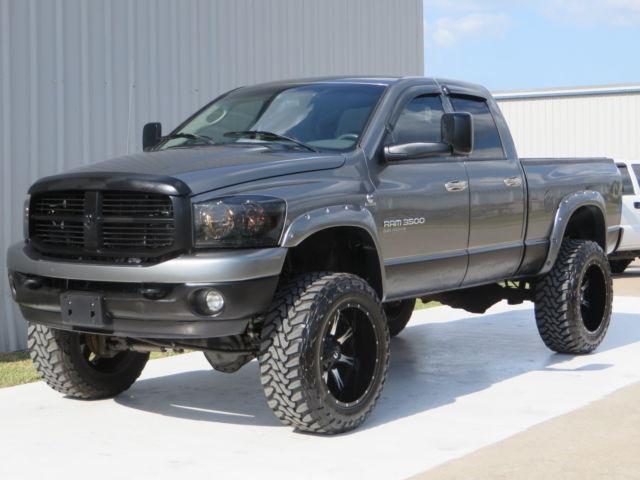 Dodge : Ram 3500 Diesel 4x4 06 ram 3500 1 ton big horn 5.9 cummins h o fabtech lift 37 x 22 swb exhaust tx