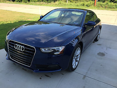 Audi : A5 Base Coupe 2-Door 2014 audi a 5 quattro low miles rebuilt tille like new