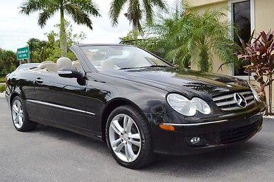 Mercedes-Benz : CLK-Class Convertible 2007 mercedes clk 350 florida convertible sirius wood wheel leather 68 k