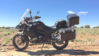 BMW : R-Series BMW R1200GS Adventure Black Great Shape Panniers 2 sets of Tires, recently servd