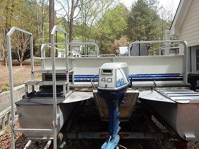 26' Pontoon boat WITH trailer