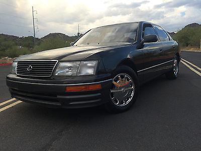 Lexus : LS 4 Door Sedan 1997 lexus ls 400 4.0 l v 8 premium black on black leather rust free arizona car