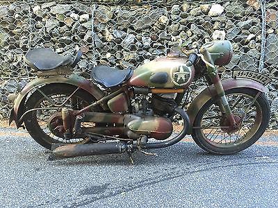 Triumph : Other RARE 1953 Triumph Werke Nurnberg AG 250S BDG Motorcycle German Antique Barn Find