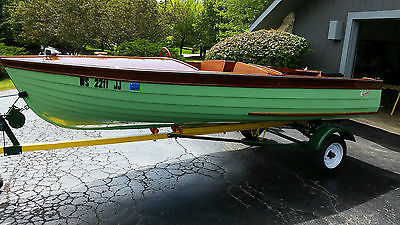 1955 Thompson Sea Coaster, 16 ft. wood lapstrake boat/runabout