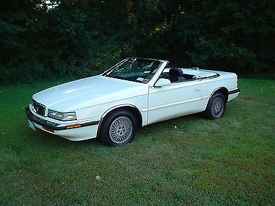 Chrysler : Other 2 seater Convertible 1991 chrysler maserati tc convertible final year very clean runs great