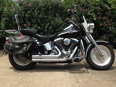 Harley-Davidson : Softail 2003 harley davidson fatboy anniversary flstfi clean rides great