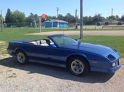 Chevrolet : Camaro R S Classic 1990 RS CAMERO Convertible RS EX 140k 305 v8 5 speed less than 750 made