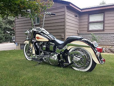 Harley-Davidson : Softail 1990 harley davidson heritage softail custom chrome lapera ape hangers mikuni