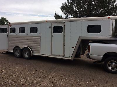 Aluminum Hart 3 Horse Oversized Gooseneck trailer, CLEAN!!