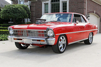 Chevrolet : Nova Rotisserie Restored! Supercharged 350 V8, 4-Speed Manual, 4-Wheel Disc, Loaded!