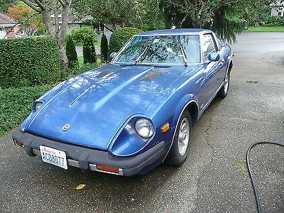 Datsun : Z-Series Blue with blue/grey interior 1981 datsun 280 zx two door hatchback original