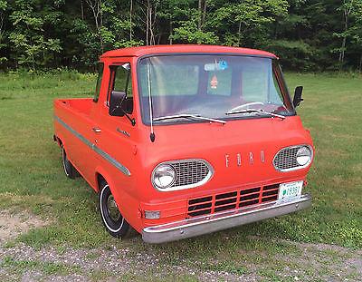 Ford : Other Pickups HD 1966 ford econoline pickup 5 window 240 engine 9 rearend orange