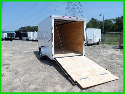 2015 Cynergy v nose 6x12 enclose cargo motorcycle trailer white or bk New