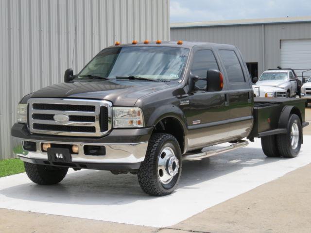 Ford : F-350 Diesel 4x4 06 f 350 lariat 6.0 powerstroke diesel 4 x 4 crew welding bed rig 16 records tx