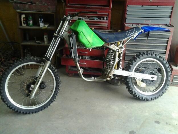 1985 kawasaki kx and 1999 kx60 dirt bikes