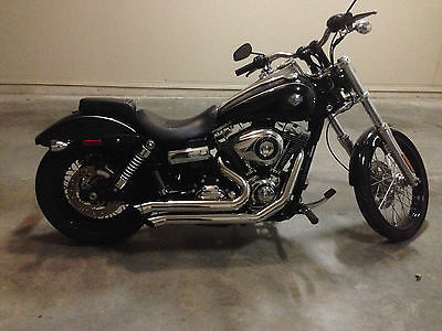Harley-Davidson : Dyna 2010 harley davidson fxdwg dyna wide glide black and chrome bub exhaust
