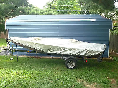 2008 TRACKER 14' JONBOAT WITH 15HP JOHNSON AND MORE, BARELY USED.