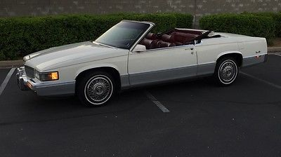 Cadillac : DeVille Convertible 1989 cadillac coupe deville convertible beautiful cold ac fully loaded
