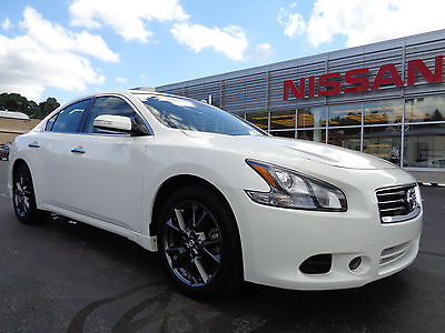 Nissan : Maxima 3.5S Limited Edition Moonroof Spoiler Wheels White 2012 maxima 3.5 s limited edition sunroof spoiler 1 owner clean carfax video