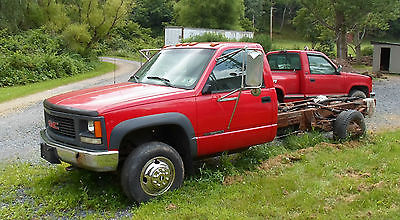 GMC : Sierra 3500 sl 1999 gmc sierra k 3500 cab and chassis 4 wd 5 speed manual rare truck
