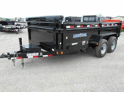 Load Trail 14' Foot Dump Trailer 14000 LB GVWR, Tarp, Ramps, 3 way gate, LED