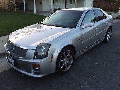Cadillac : CTS 4dr Sdn 2004 cadillac cts v grey sedan 6 spd low miles magna flow exhaust k n intake