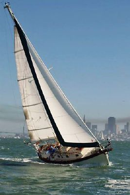 1993 27' NOR'SEA 27 SAILBOAT ON CUSTOM TRI AXLE TRAILER.