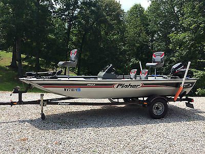 2004 Fisher 1600 16' welded aluminum Bass Boat 9.9Hp 4 stroke outboard